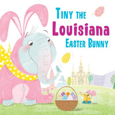 Tiny the Louisiana Easter Bunny - Easter Bunny Coloring Page