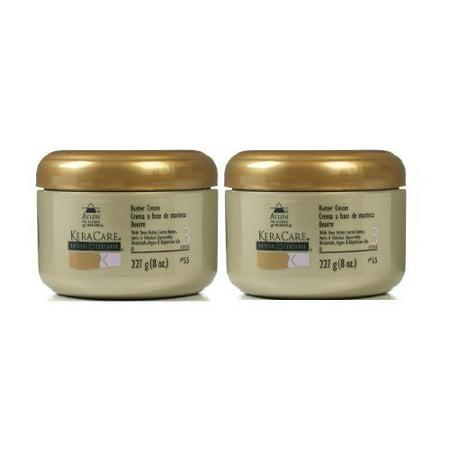 Avlon KeraCare Natural Texture Butter Cream 8oz, (Pack of 2)