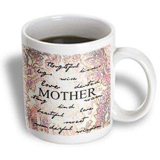 Mother's Day Mugs (3dRose Inspired Mother Words - For Mom - Mothers Day, Ceramic Mug,)