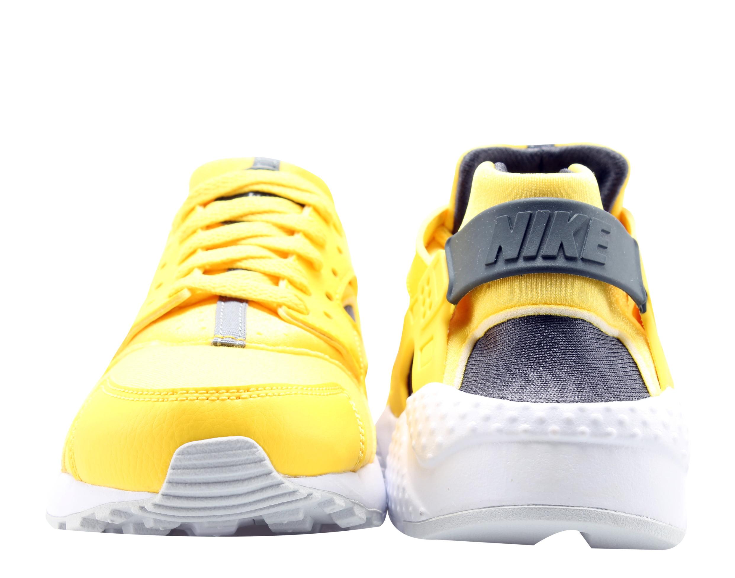 46ef3bfb77a3 Nike - Nike Huarache Run (GS) Yellow Anthracite-Wht Big Kids Running Shoes  654275-700 - Walmart.com