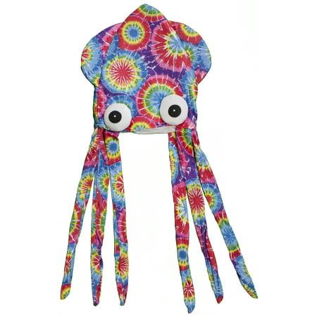 Costume Accessory - Felt Tye Dye Squid Hat - Squid Hat