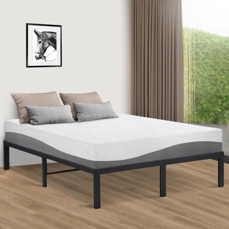 GranRest Modern Steel Bed Frame, Dark Gray, Full