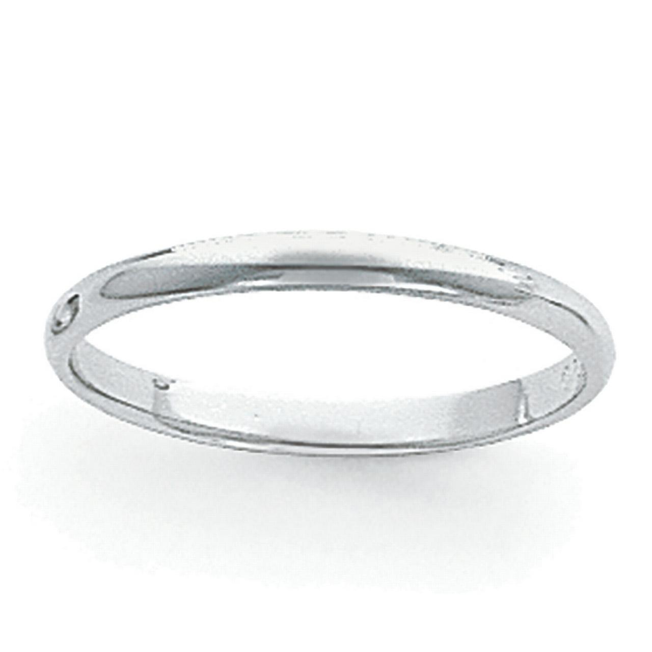 Platinum 3mm Half-Round Featherweight Band Ring PLWHR030 by