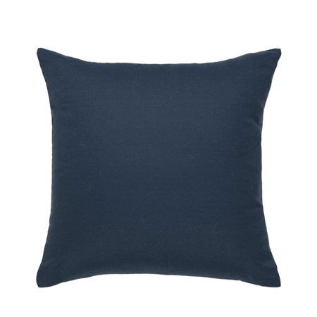 Solid Linen Throw Pillow Cover/Euro Sham/Cushion Sham Decoration Cushion Cover Case for Couch  Blue 18