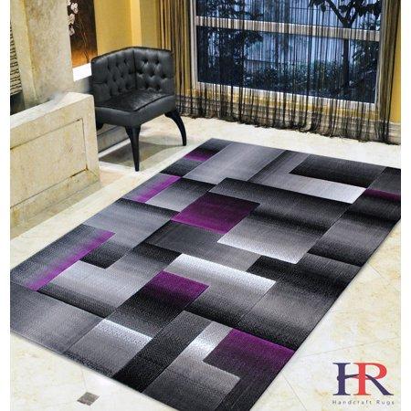Handcraft Rugs Purple Grey Silver Black Abstract