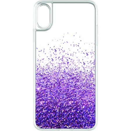 huge discount a910a 3882b Onn Purple Liquid Glitter Cascade Phone Case For iPhone XR