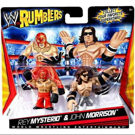 WWE Wrestling Rumblers Series 1 Rey Mysterio & John Morrison Mini Figure - Wwe Wrestling Rey Mysterio