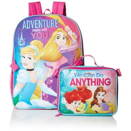 Disney Girls' Princess Adventure Backpack with Lunch](Adventure Backpacks)