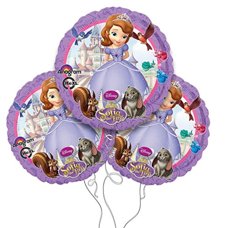 "Sofia the First Balloon 18"" Mylar 3pk"