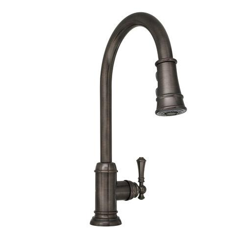 Mirabelle MIRXCAM100 Amberley Pullout Spray Kitchen Faucet With High Arch  Goosen