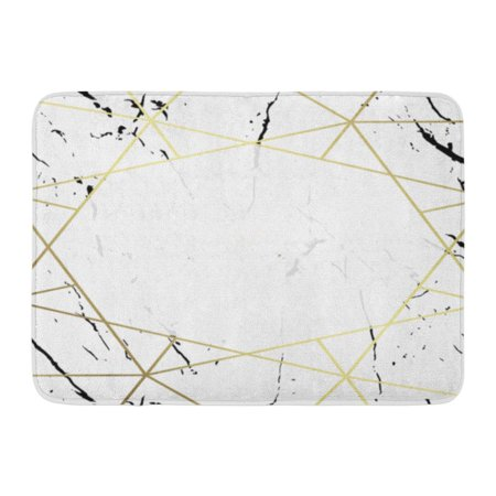 SIDONKU Holiday Party White and Black Marble Gold Text Geometric Pattern Christmas Dimensions 5X7 in 0 125 Doormat Floor Rug Bath Mat 23.6x15.7 inch (Dimensions Gold Holiday)