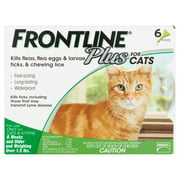 Frontline Plus Flea and Tick Treatment For Cats And Kittens, 6 Monthly Doses