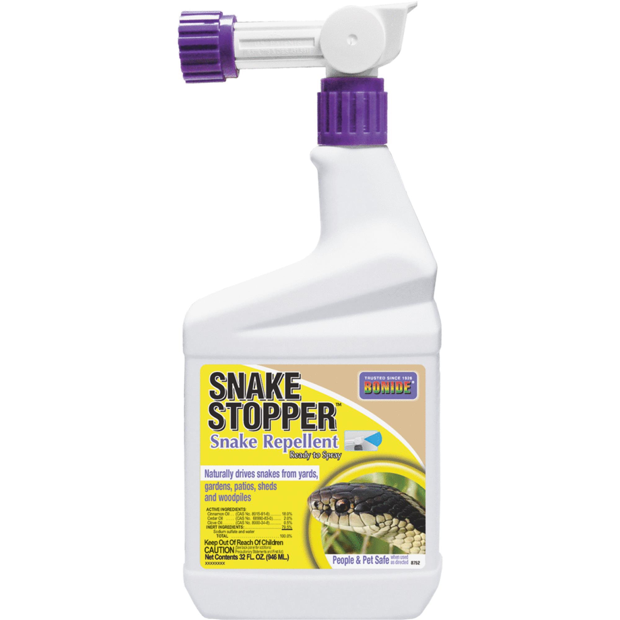 BONIDE Animal Repellent, All Natural Snake Stopper, Qt Spray