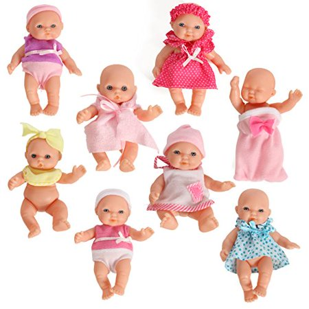 Mommy  Me Doll Collection Set of 8 Assorted Mini Dolls 5 Inches Tall - image 1 of 2
