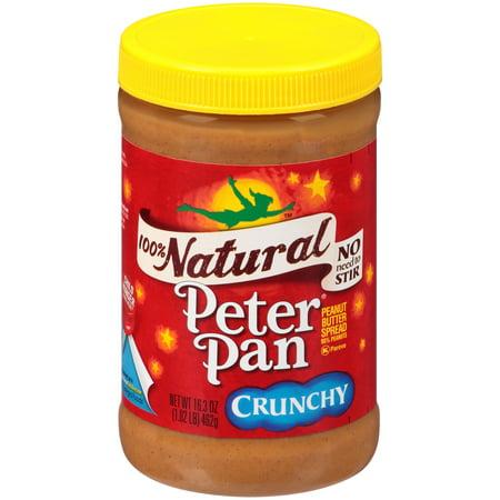 Peter Pan  100  Natural Crunchy Peanut Butter Spread 16 3 Oz  Jar