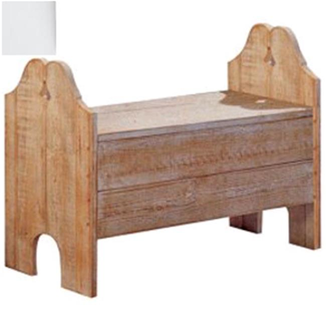 Uwharrie Chair N143 Storage Bench - White