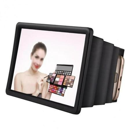 Mobile Phone Gadget 3D Screen Magnifier Video Enlarge Stand Holder Foldable Phone Screen Amplifier Case - image 8 de 9