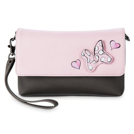 Disney Parks Sweet Minnie Mouse Crossbody Wristlet Bag New with Tags