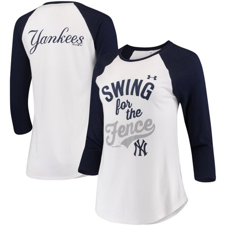 New York Yankees Under Armour Women s Baseball 3 4-Sleeve T-Shirt - White -  Walmart.com 354712e63ff