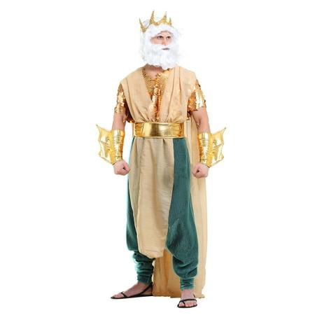 Men's Poseidon Costume - Costume Of Poseidon
