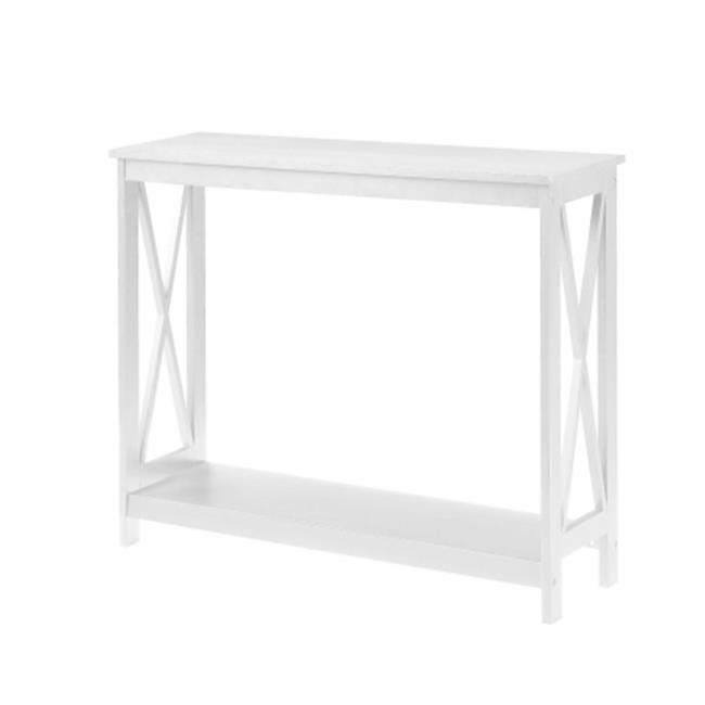 Convenience Concepts 203099W Oxford Console Table White by Convenience Concepts