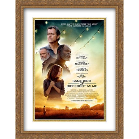 Same Kind Of Different As Me 28X36 Double Matted Large Large Gold Ornate Framed Movie Poster Art Print