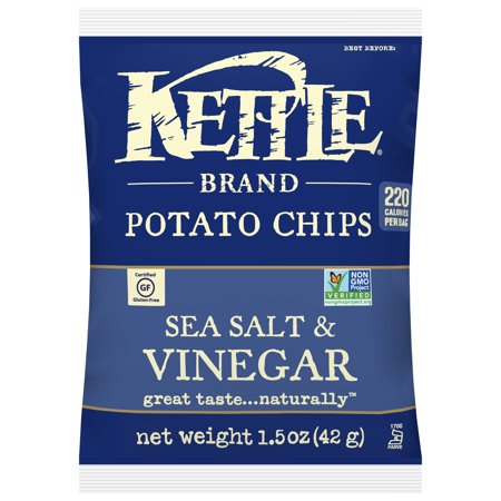Kettle Sea Salt and Vinegar Potato Chips, 1.5 Oz., 24