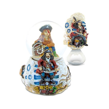 Goose Magnet - Puzzled Pirate Resin Stone Finish Collection including Snow Globe and Magnet
