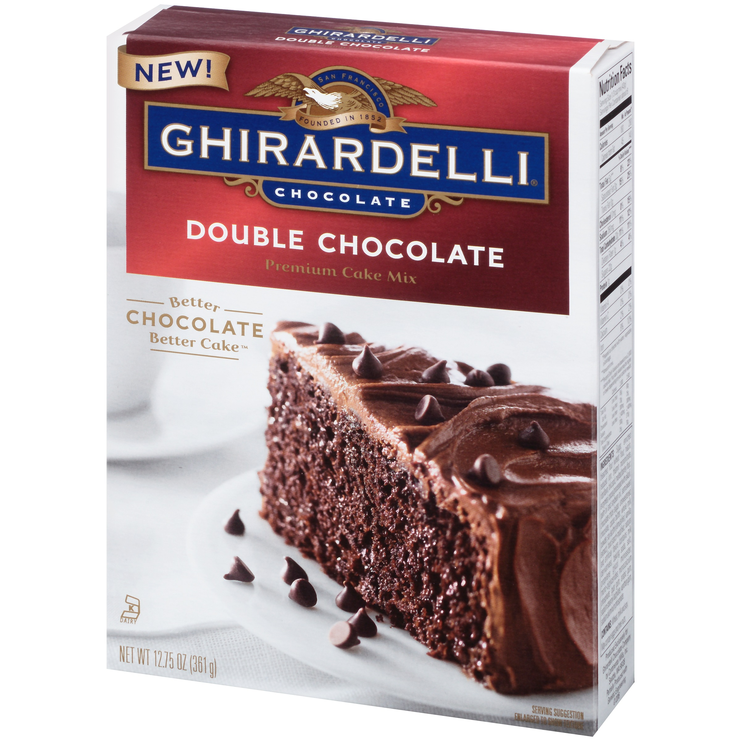 Ghirardelli Dark Chocolate Premium Cake Mix