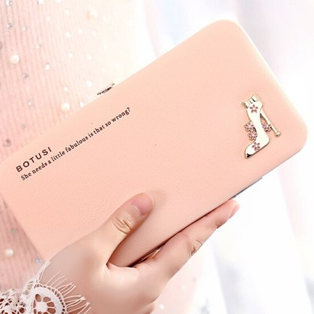 Fashion 5.5 Inch High Heels Functional Phone PU Wallet Case Cover for Smartphone ()