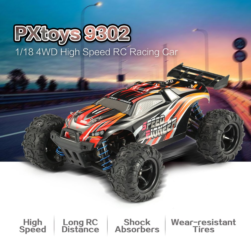 PXtoys 9302 1/18 4WD RC Off-Road Vehicle High Speed Racing Car for Pioneer RTR