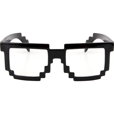 Pixel-8 Black and Clear Glasses Halloween - Halloween Tumblr Pixels