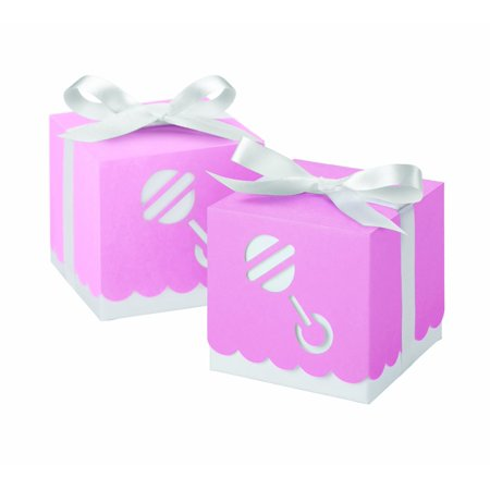 Wilton Pink Die Cut Rattle Square Box Favor Kit, 25 - Rattle Box