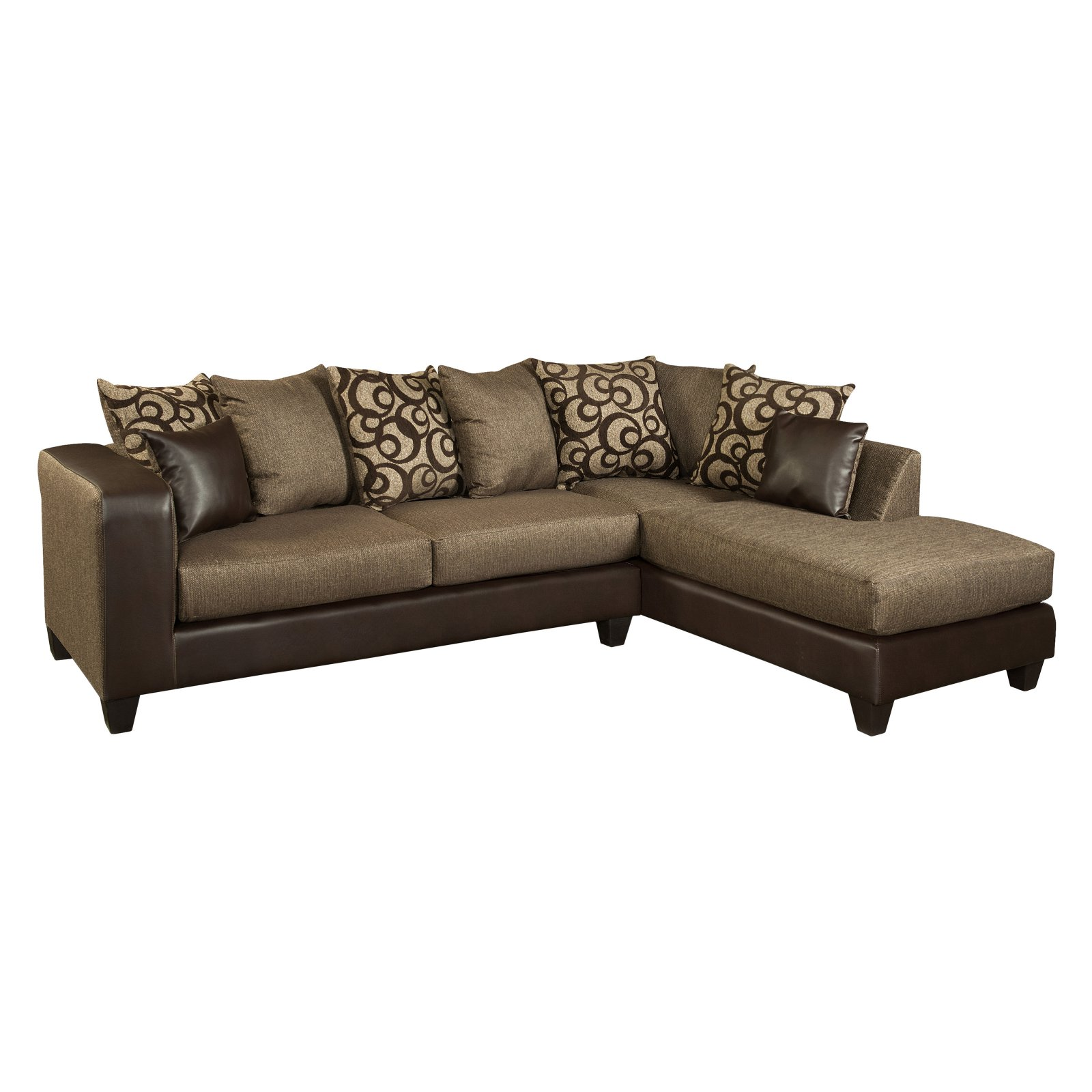 Flash Furniture Riverstone Object Chenille Sectional Sofa
