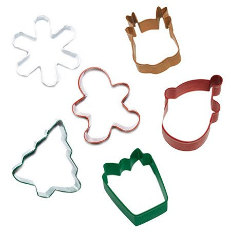 holiday cookie cutter set set of 6 christmas cookie cutters - Christmas Cookie Cutters Walmart