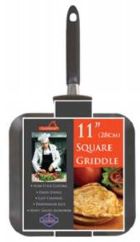 """11"""""""" X 11"""""""" Square Non-Stick Griddle Pan Case Pack 12 by DDI"""