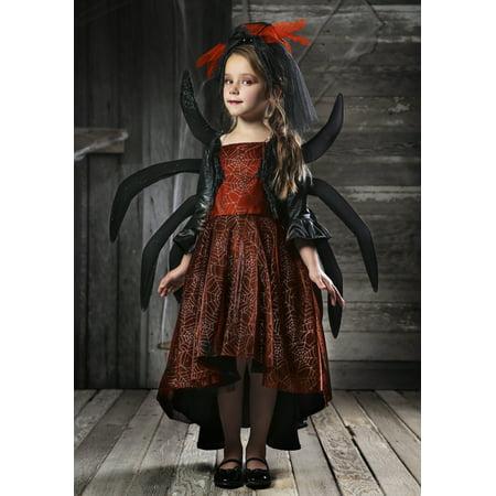 Girl's Spooky Widow Dress - Womens Black Widow Costume