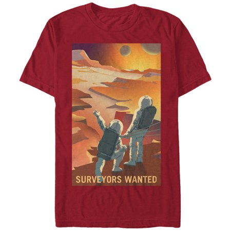 NASA Men's Mars Surveyors Wanted T-Shirt (30 Seconds To Mars Vintage T Shirt)