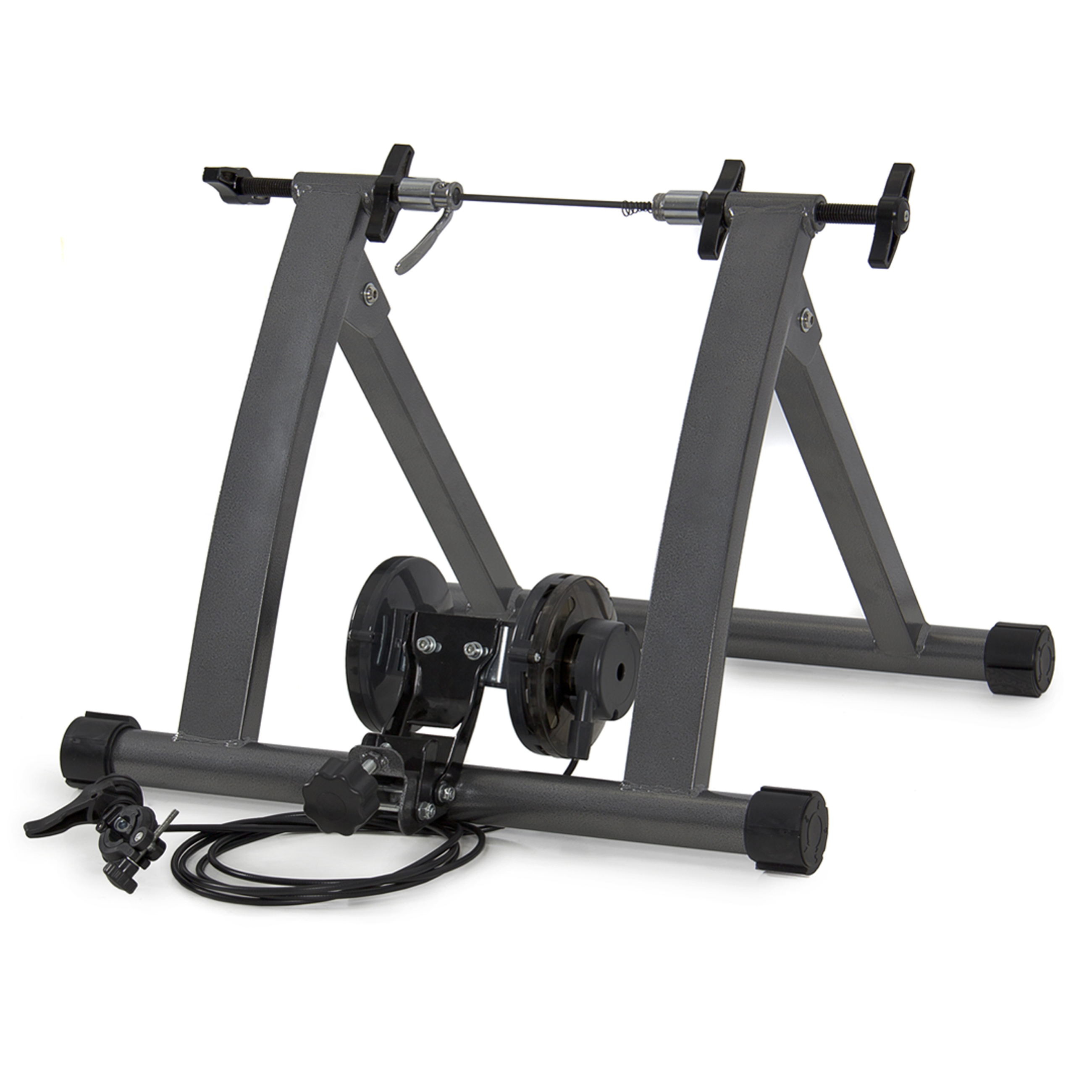 """Ktaxon Portable Folding Indoor Stationary 5 Level Magnet Bike Trainer Stand, for 26"""", 27"""" or 700C Wheel Bicycle Cycling Exercise"""