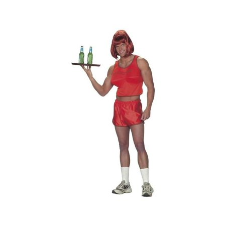 Adult Hooters Guy Waitress Costume - Waitress Costumes