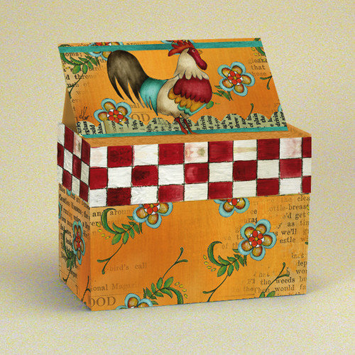 Lang Kitchen Whimsy Recipe Card Box