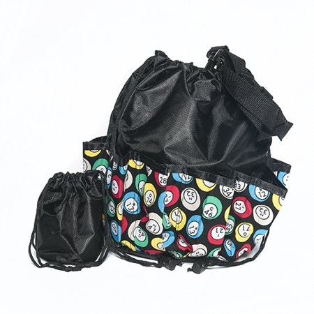 Bingo Bag - Bingo Ball Design - Black - Bingo Bags Walmart