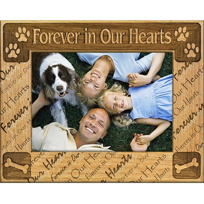 Giftworks Plus PET4033 Forever In Our Hearts - Repeat, Alder Wood Frame, 3.5 x 5 In
