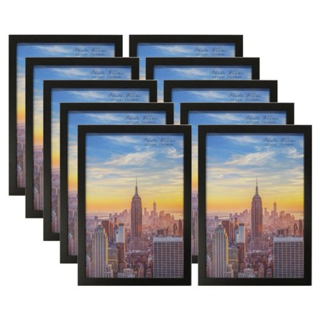 Frame Amo 13x19 Black Wood Picture or Poster Frame, 1 inch Wide Border, 10-PACK