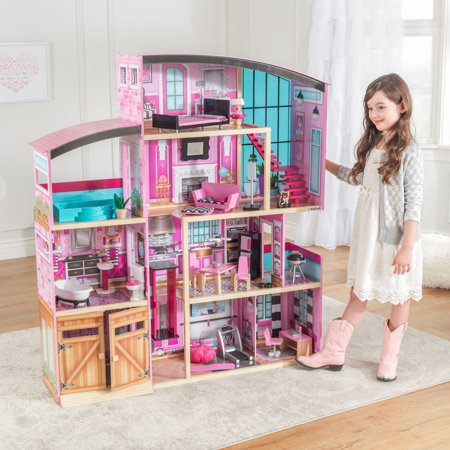 KidKraft Wooden Dollhouse Shimmer Mansion for 12 Inch