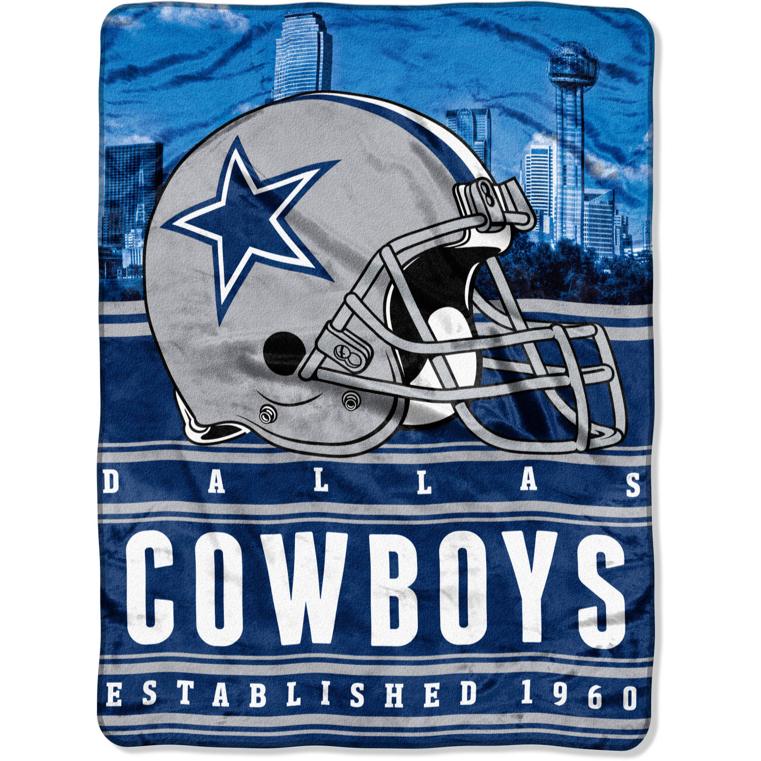"NFL Dallas Cowboys ""Stacked"" 60"" x 80"" Silk Touch Throw"