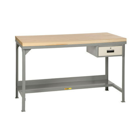 Little Giant USA Welded Steel Butcher Block Top Workbench
