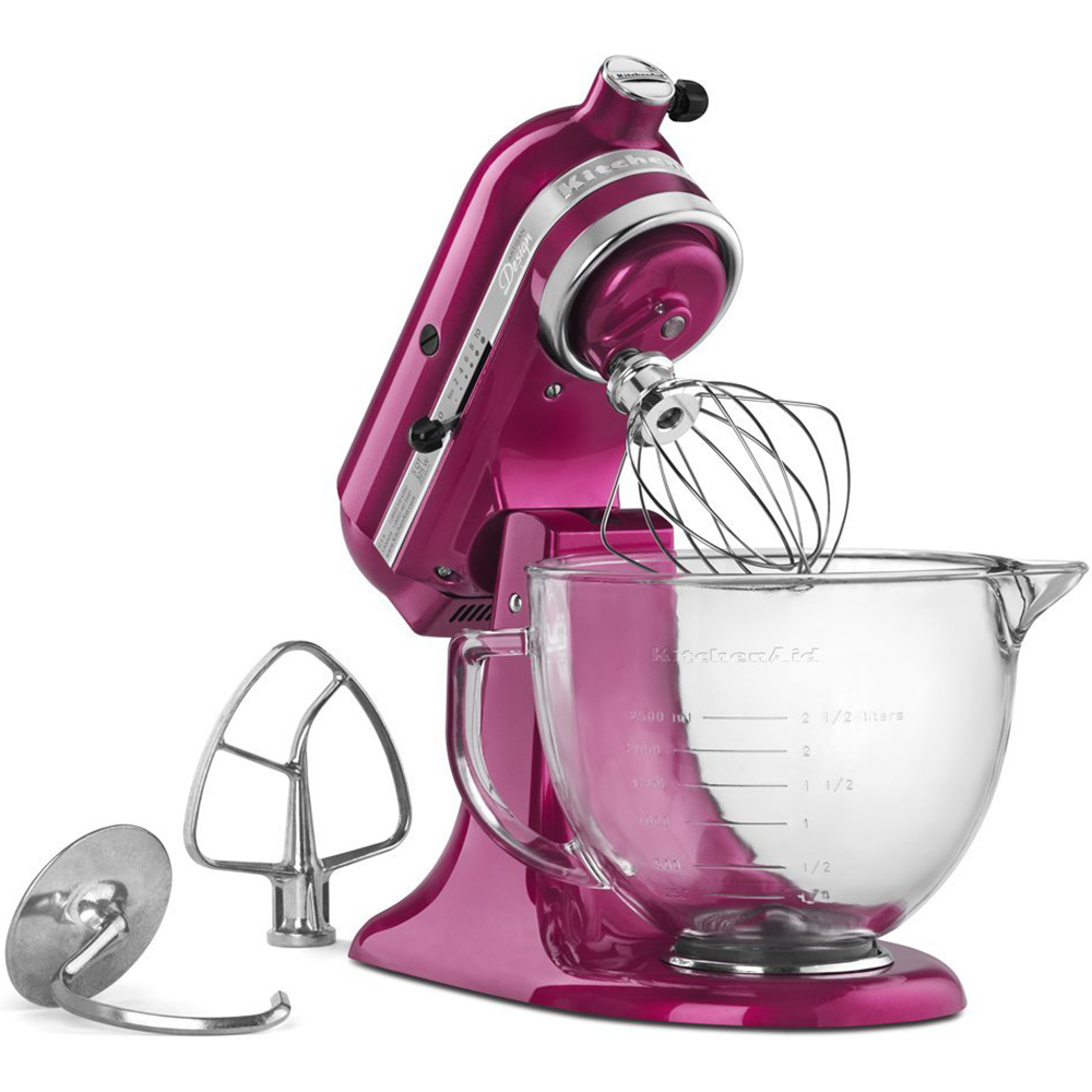 KitchenAid KSM155GBRI Artisan Design Series Stand Mixer with Glass ...