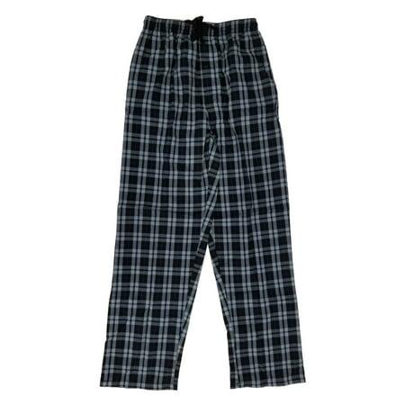 Hanes Mens Black Gray Plaid Tagless Woven Sleep Lounge Pants Pajama (Hanes Plaid Sleep Pant)