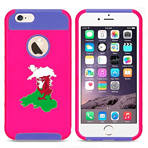 Apple iPhone SE Shockproof Impact Hard Soft Case Cover Wales Welsh Flag (Hot...
